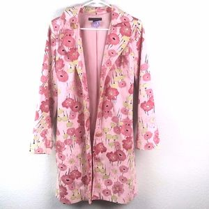 Apostrophe Pink Floral Trench Coat